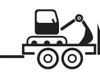 Baumaschinentransporter