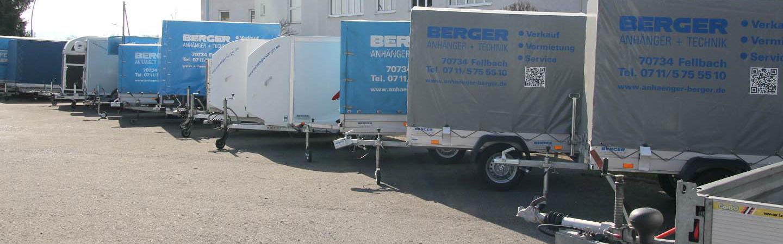 Mietanhänger, PKW-Anhänger-Vermietung Fellbach